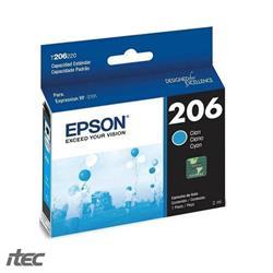 CARTUCHO EPSON Cyan T206220AL #206
