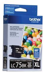 CARTUCHO BROTHER Negro (LC75BK XL)