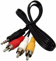 Cable Mini Plug 3,5Mm a 3 RCAM/M  1.5Mts NM-C29