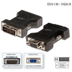 Adaptador Netmak DVI (M) a VGA (H) Netmak