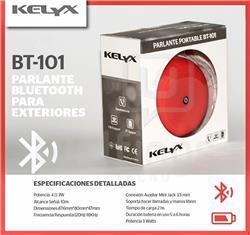 Parlante Bluetooth Kelyx BT101 ROJO