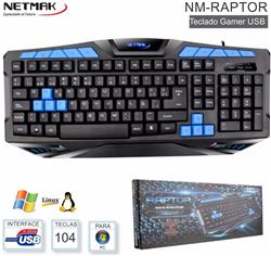 Teclado Gamer Multi. Usb + Luz Led NM-RAPTOR