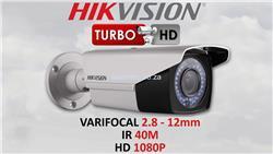 Camara Bullet Varifocal 1080p Hikvision DS-2CE16D0T-VFIR3F (Metal)