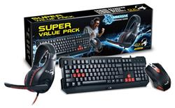 Combo Teclado Mouse Auricular Gamer Genius Gx Gaming Kmh-200
