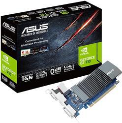 Tarjeta gráfica ASUS GeForce GT 710 1GB GDDR5 HDMI VGA DVI (GT710-SL-1GD5-BRK)<