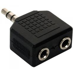 Ficha Adaptador 1 Mini Plug Macho A 2 Miniplug Hembra