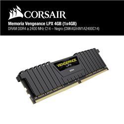 Memoria Corsair Ddr4 4gb 2400mhz 1x4gb Vengeance Lpx