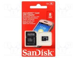 TARJETA MICRO SDHC Sandisk 8GB CLASE 4 (SDSDQM-008GB-B35A)