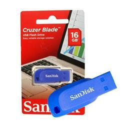 PENDRIVE USB SanDisk Cruzer Blade Electric AZUL 16GB (SDCZ50-016G-B35BE)