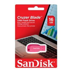 PENDRIVE USB SanDisk Cruzer Blade Electric ROSA 16GB (CZ50-016G-B35PE)