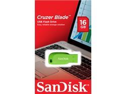 PENDRIVE USB SanDisk 16GB Cruzer Blade Electric VERDE (SDCZ50C-016G-B35GE)