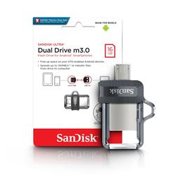 PENDRIVE Dual USB SanDisk 16GB (SDDD3-016G-G46)