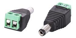 Ficha Plug Macho Dc 5.5 X 2.1mm Bornera Cctv (DCMC)