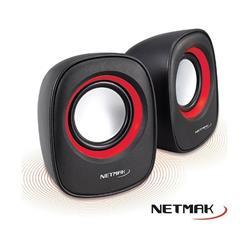 Parlante NETMAK Delight NM-9025R 6W USB 2.0 Rojo