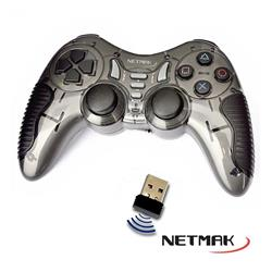 Joystick Netmak PC PS2 PS3 Inalambrico Vibracion N