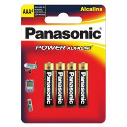 Pila PANASONIC AAA ALKALINA (Blister X 4 Unidad)