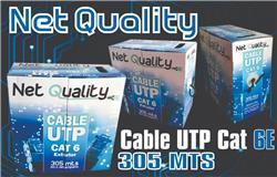BOBINA CABLE UTP CAT.6E NET-QUALITY EXTERIOR X305MTS