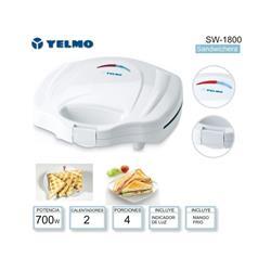 Sandwichera Yelmo Sw-1800 Para 4 Porciones 700 Wat