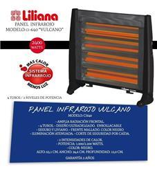 Panel Radiante Infrarrojo LILIANA 1000/2200W Negro