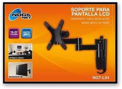 Soporte LCD / LED EXT.  ALUM 15-27 Pulgadas Hasta 18KG Noga NGT-L04
