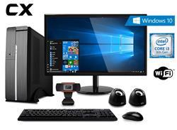 PC SLIM CX INTEL I3-9100 4GB 1TB WIFI W10H WEBCAM + MONITOR 19