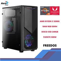 PC GAMER AEROCOOL TomaHawr Ryzen 3-3200G 8GB 240SSD 500W