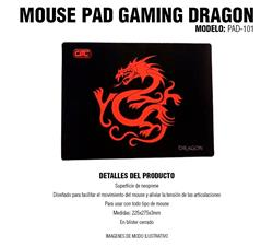 Mouse Pad Gaming Dragon PAD-101