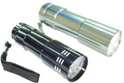 Linterna LED de aluminio de 9 Leds Pronext