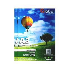 Papel Glossy Global A3 (420 X 297 MM ) DE 200 GRS X20