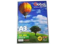 Papel Mate Global A3 (420 x 297 mm) de 110 Grs x 20