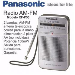 Radio Portatil Panasonic AM/FM RF-P50DPR-S