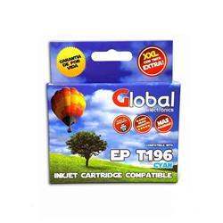 Cartucho Alternativo GLOBAL P/Epson T195 196 Cyan