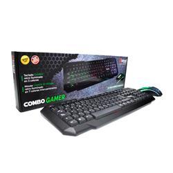 Teclado y Mouse Gamer Global Teclado con Luces de 3 Colores y Mouse