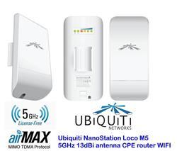 Ubiquiti Airmax Nanoloco-M5 5GHZ 200MV 13 DBI C/Fuente P