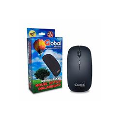 Mouse Optico Global Con Rueda Scroll Slim Inalambrico Negro