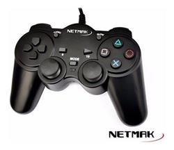 Joystick Para Pc Usb 2.0 NM-2007U Gamepad Dual Shock Netmak