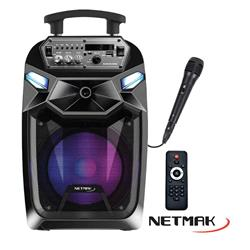 Parlante Karaoke FUSION 8 NETMAK C/Mic y control NM-FUSION