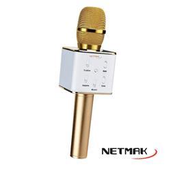 Microfono con parlante Bluetooth Netmak NM-K99G Karaoke