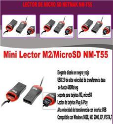 Lector De Memorias Netmak M2/Micro Sd NM-T55