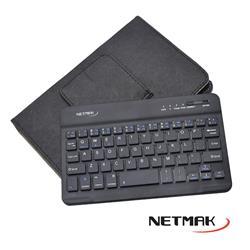 Funda con Teclado Bluetooth Imantado Para Tablet 7