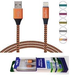 Cable USB Iphone de 1m de 2.4 A con malla de tela (NSCATEIP)