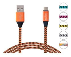 Cable USB C de 1m de 2.4A con malla de tela (NSCATEUC)