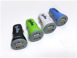 Cargador USB doble para auto 12/24V a 5V 2.1A Nisuta