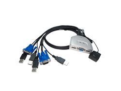 Switch Nisuta KVM de 2 puertos USB (NSKVMUV2)